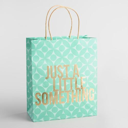 Just a Little Something Large Kraft Gift Bags Set of 2