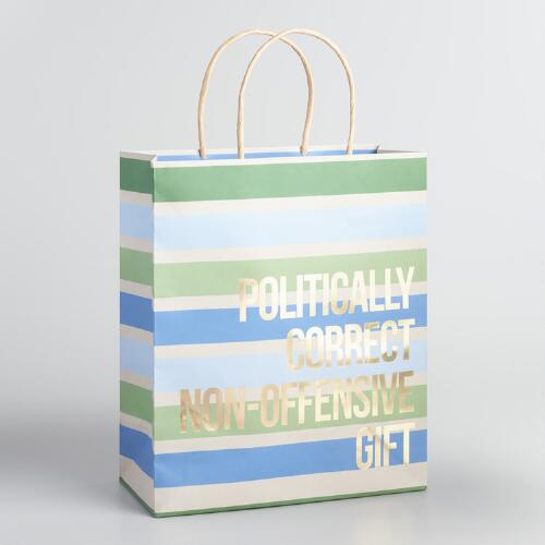 Politically Correct Large Kraft Gift Bags Set of 2