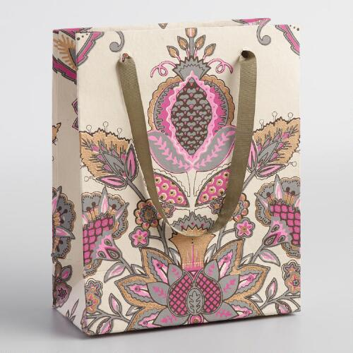 Small Pink Octavia Handmade Gift Bags Set of 2