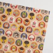Animal Hats Kraft Wrapping Paper Roll
