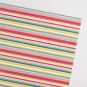 Striped Birthday Kraft Wrapping Paper Roll
