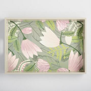 Gigi Floral Lacquer Serving Tray