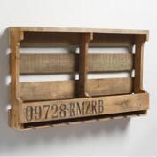 Double Pallet Wall Wine Rack