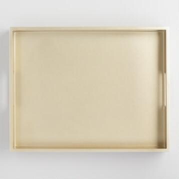 Golden Sparkle Lacquer Serving Tray