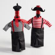 French Wine Bottle Outfits Set of 2