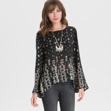 Black  and White Bhuti Elin Blouse