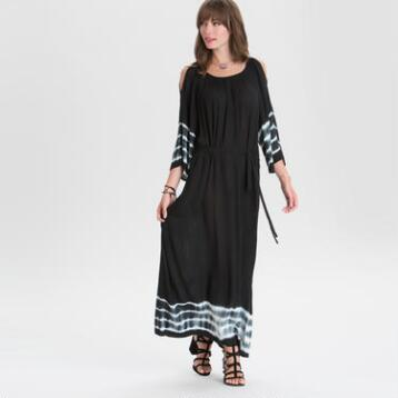 Black Long Sleeve Lyssa Maxi Dress