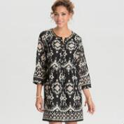 Black and Blush Ikat Riah Dress