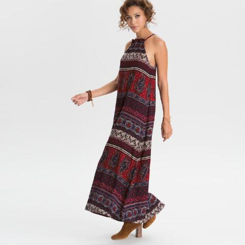 Rust Izzie Maxi Dress