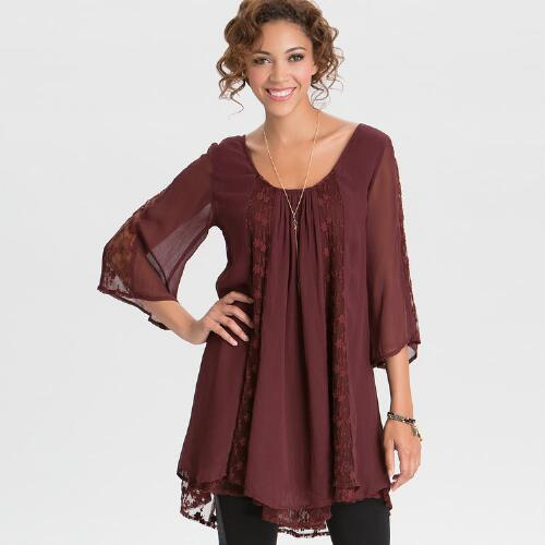 Burgundy Emme Dress