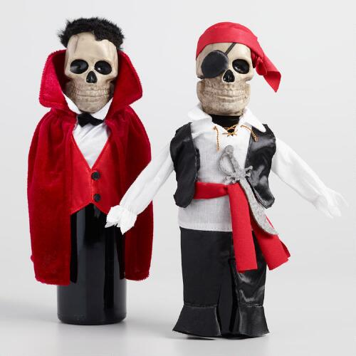 Spooky Skeleton Bottle Outfits Set of 2