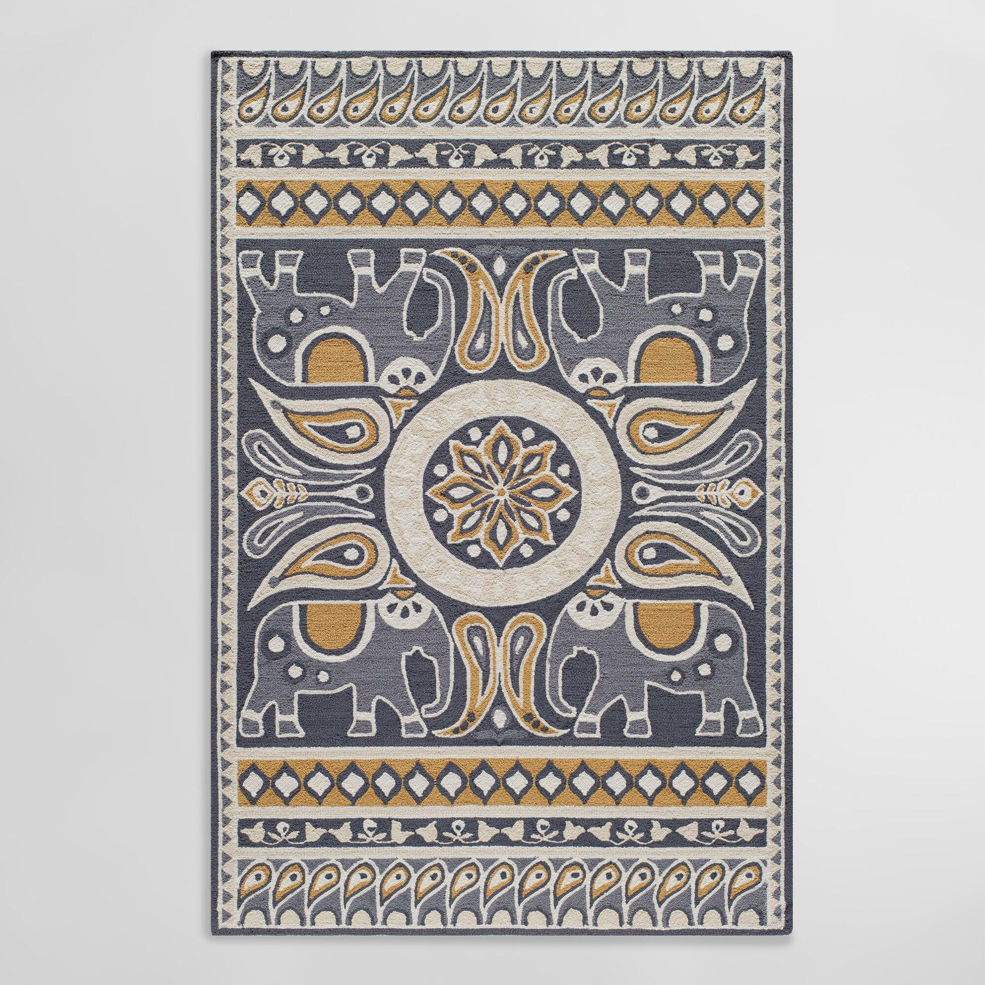 Gray Lanka Indoor Outdoor Area Rug | World Market - photo#17
