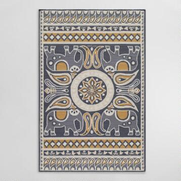 Gray Lanka Indoor Outdoor Area Rug