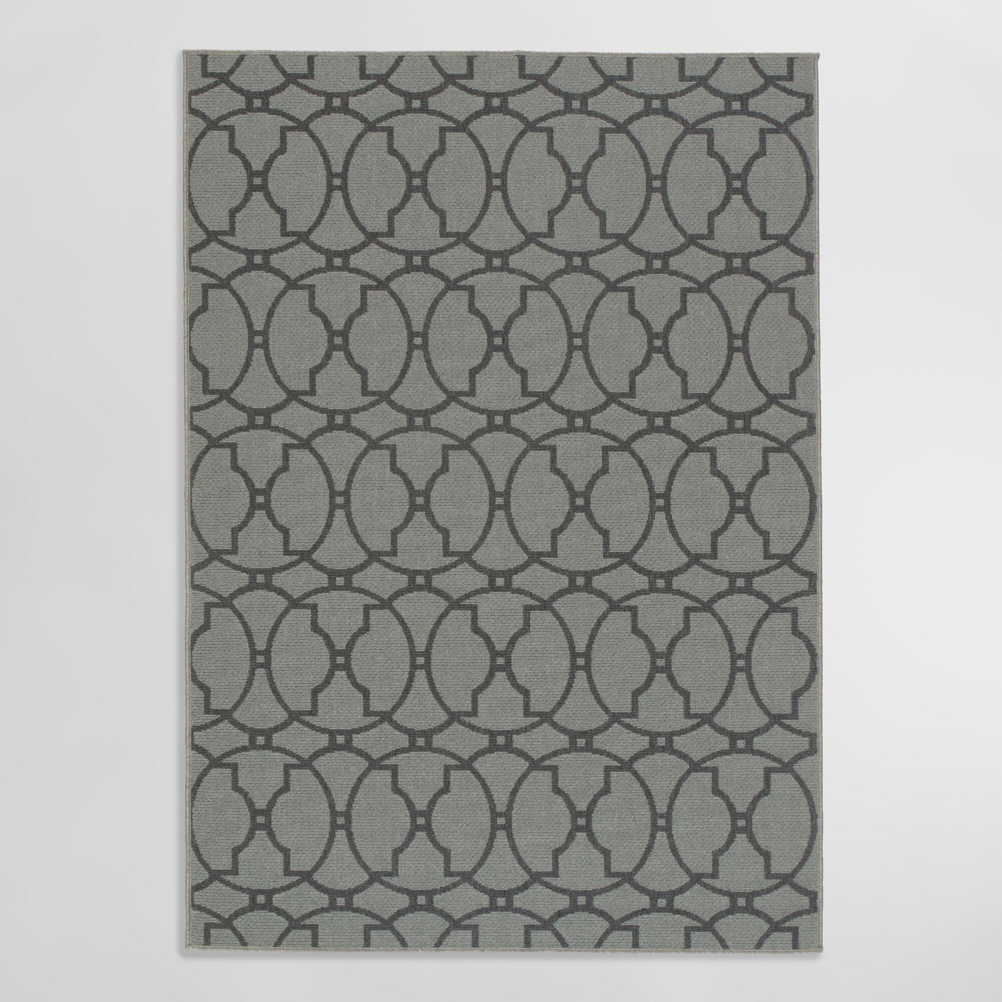 Charcoal Crystal Indoor Outdoor Area Rug | World Market - photo#31