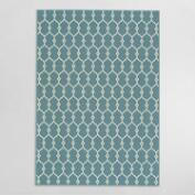 Blue Lace Indoor Outdoor Area Rug