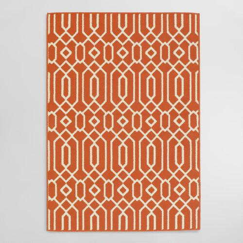 Orange Cortes Indoor Outdoor Area Rug