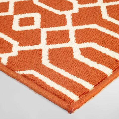 Orange Cortes Indoor Outdoor Area Rug | World Market - photo#42