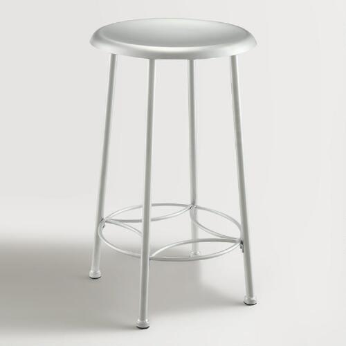 Chrome Gylnis Counter Stool