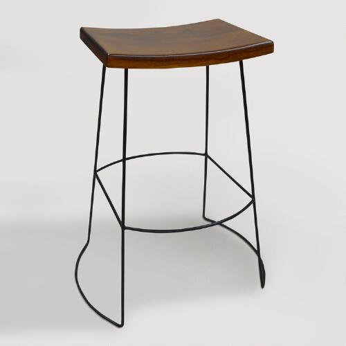 Wood and Metal Darbinson Barstools Set of 2