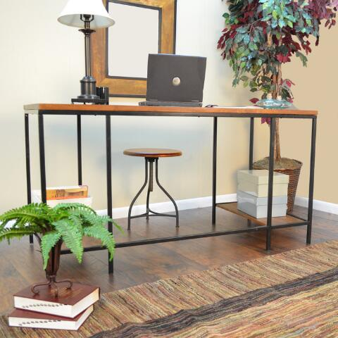 Wood And Metal Williard Extra Long Desk World Market