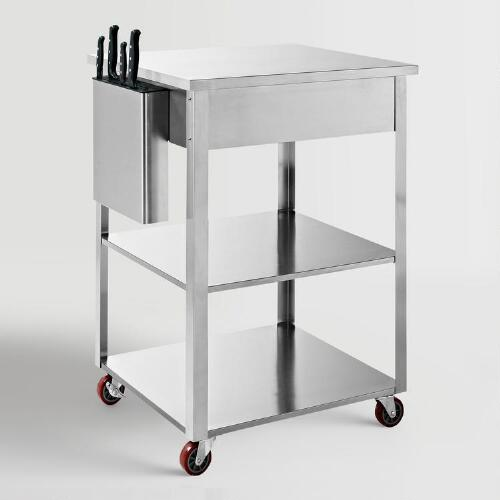 Stainless Steel Daelyn Kitchen Cart