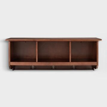 Mahogany Wood Emlyn Entryway Wall Storage