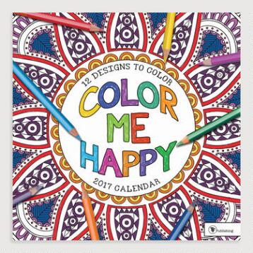 Color Me Happy Wall Calendar