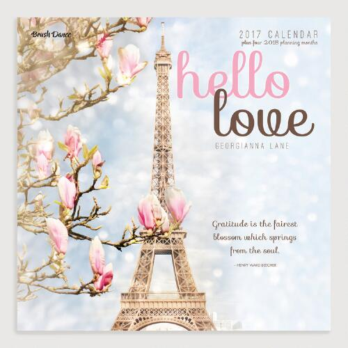 Hello Love Wall Calendar