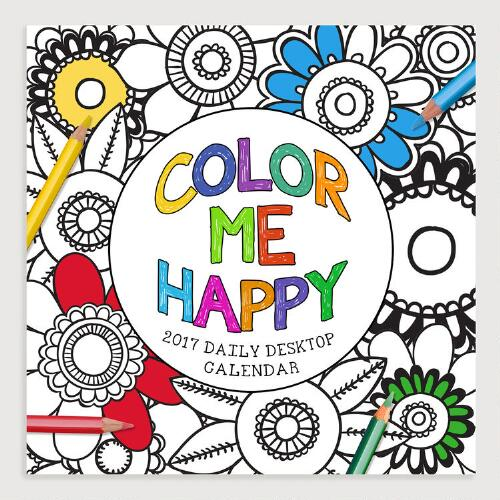 Color Me Happy Page A Day Calendar