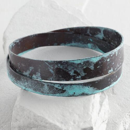 Patina Twist Bangle Bracelet