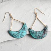 Patina Crescent Earrings