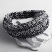 Black and White Wide Knit Headband