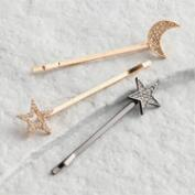 Moon and Stars Hair Pins Set of 3