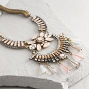 Pink Deco Statement Necklace