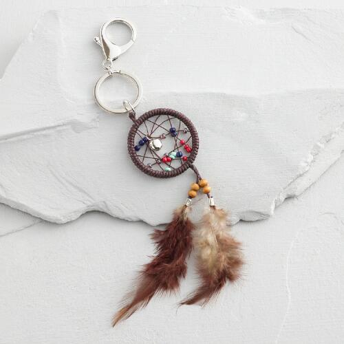 Brown Dreamcatcher Keychain
