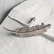 Silver Feather Barrette