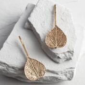 Gold Leaf Hair Pins Set of 2