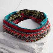 Multicolored Tribal Wide Jersey Headband