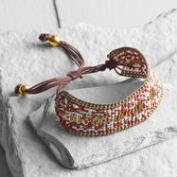 Rust Seed Bead Friendship Bracelet