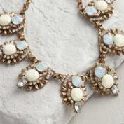 Ivory and Rhinestone Statement Necklace