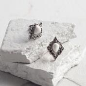 White Howlite Stud Earrings