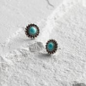 Silver and Turquoise Stud Earrings