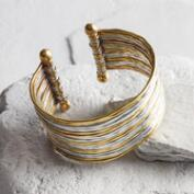 Brushed Gold and Silver Cuff Bracelet