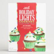 Christmas Lights Chocolate Cupcake Kit