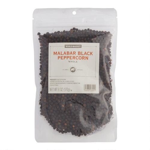 World Market® Whole Black Malabar Peppercorns Spice Bag