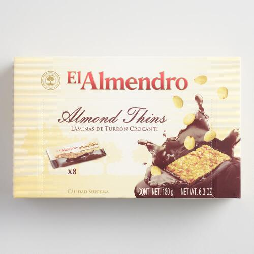 El Almendro Almond Torrone Thins