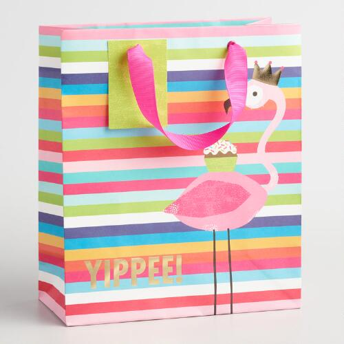 Medium Yippee Flamingo Gift Bags Set of 2