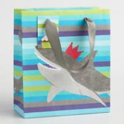Small Striped Shark Gift Bags Set of 2