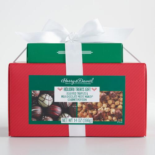 Harry & David Truffle and Moose Munch Caramel Popcorn 2 Box