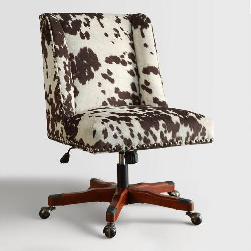 Brown Udder Madness Heathman Upholstered Office Chair